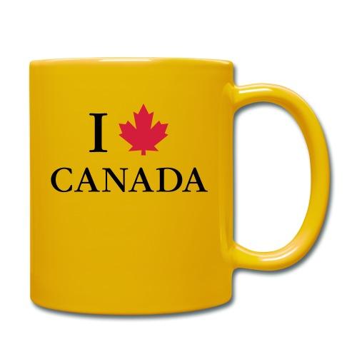 I love Canada Ahornblatt Kanada Vancouver Ottawa - Tasse einfarbig