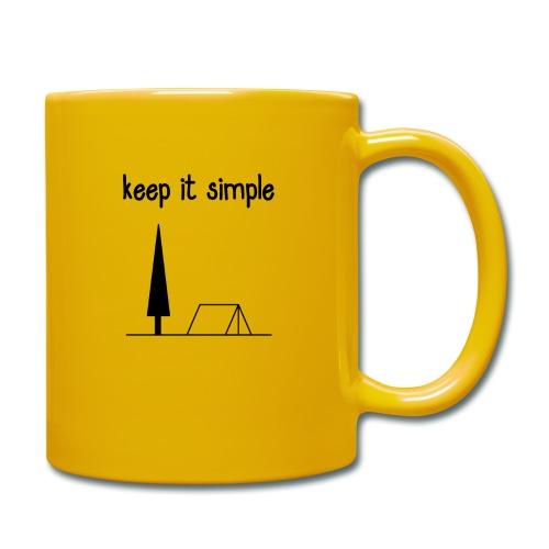 keep it simple - Tasse einfarbig