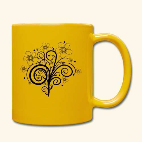 Blumenranke, Blumen, Blüten, floral, Ornamente - Tasse einfarbig