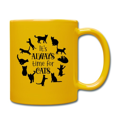 Its always time for cats - Enfärgad mugg