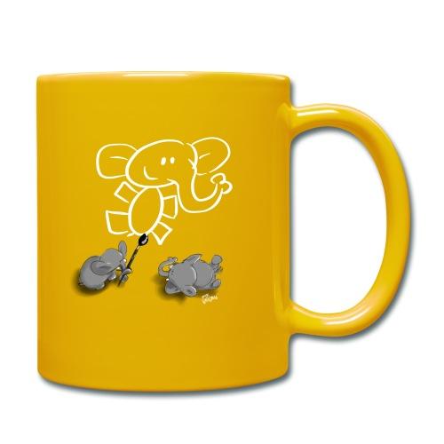 When elephants paint elephants. - Enfärgad mugg