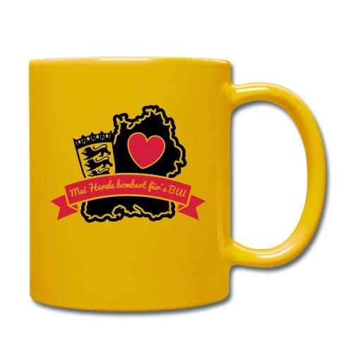 Herzle BW - Tasse einfarbig