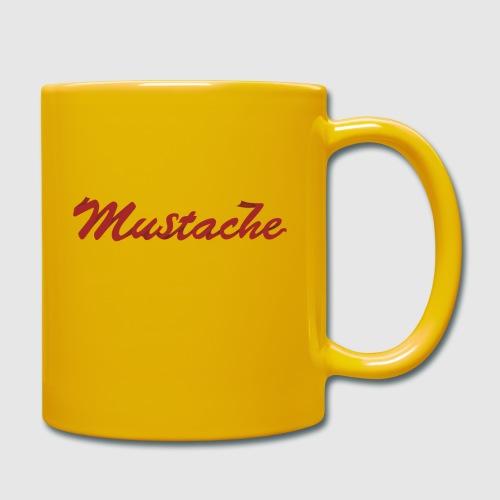 Red Mustache Lettering - Full Colour Mug