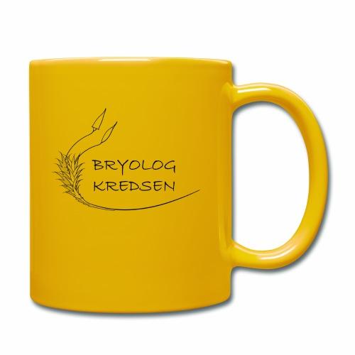 Bryologkredsen - sort logo - Ensfarvet krus