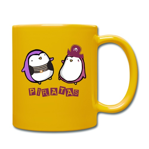 PINGUINOSPIRATAS - Taza de un color