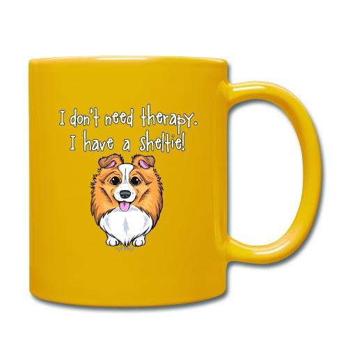 Sheltie Dog Therapy 2 - Full Colour Mug
