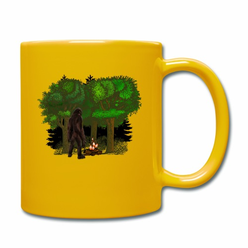 Bigfoot Campfire Forest - Full Colour Mug