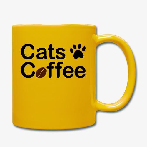 Katter & Kaffe - Enfärgad mugg