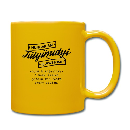 Tutyimutyi black - Hungarian is Awesome (black fon - Full Colour Mug
