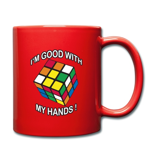 Rubik's Cube Quotes I'm Good With My Hands - Full Colour Mug