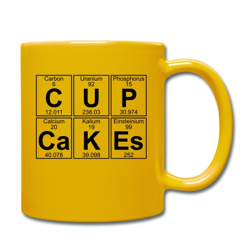 C-U-P-Ca-K-Es (cupcakes) - Full - Full Colour Mug