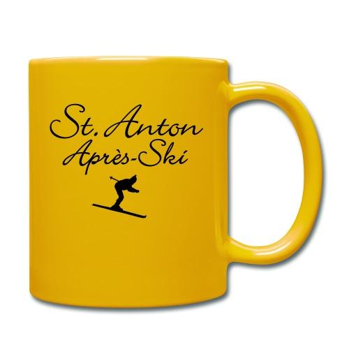 St. Anton Après-Ski Skifahrer - Tasse einfarbig