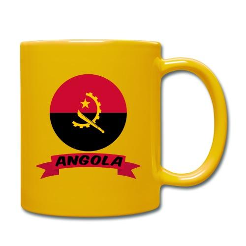 flag of Angola t shirt design ribbon banner - Tazza monocolore