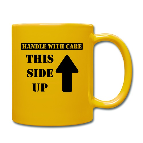 Handle with care / This side up - PrintShirt.at - Tasse einfarbig