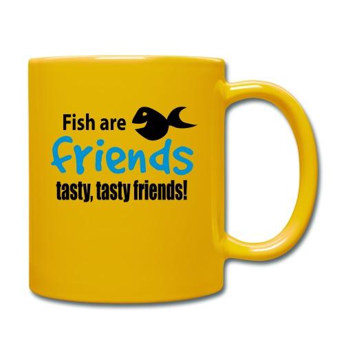 Fisk er venner - Ensfarget kopp