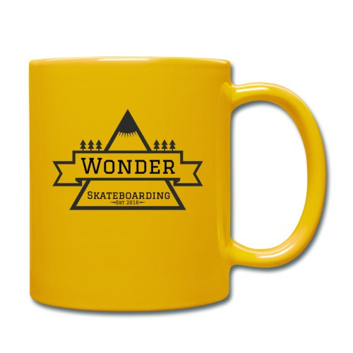 Wonder hoodie no hat - Mountain logo - Ensfarvet krus