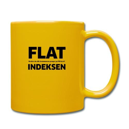 Jeg legger meg flat - Ensfarget kopp
