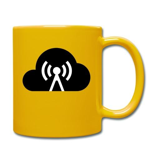 Cloud Cast Wolke schwarz mit Schriftzug - Tasse einfarbig