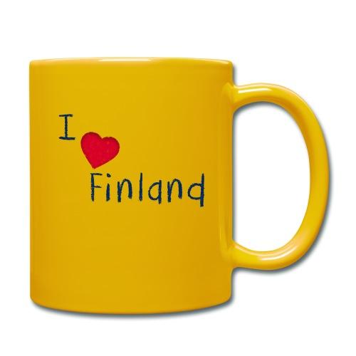 I Love Finland - Yksivärinen muki
