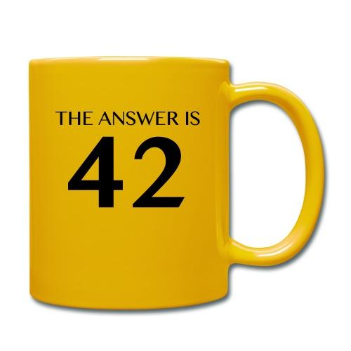 The Answer is 42 Black - Full Colour Mug