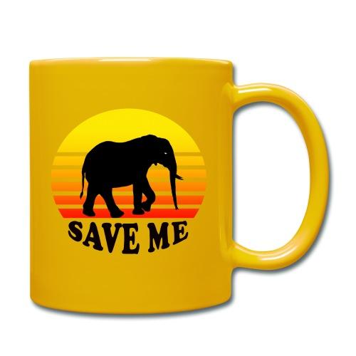 Elefant SAVE ME Schattenriss Sonne - Tasse einfarbig