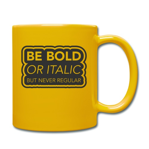 Be bold, or italic but never regular - Mok uni