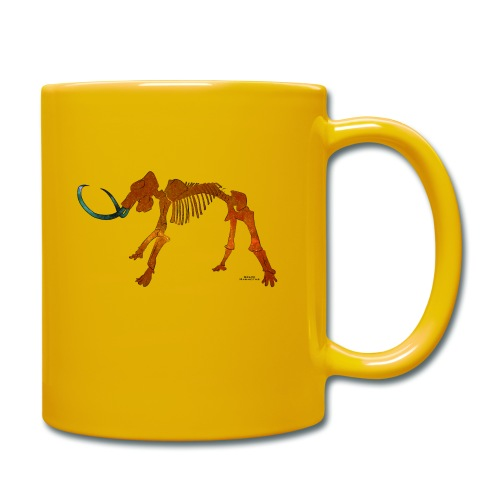 Halloween Space Mammoth Skelett - Tasse einfarbig