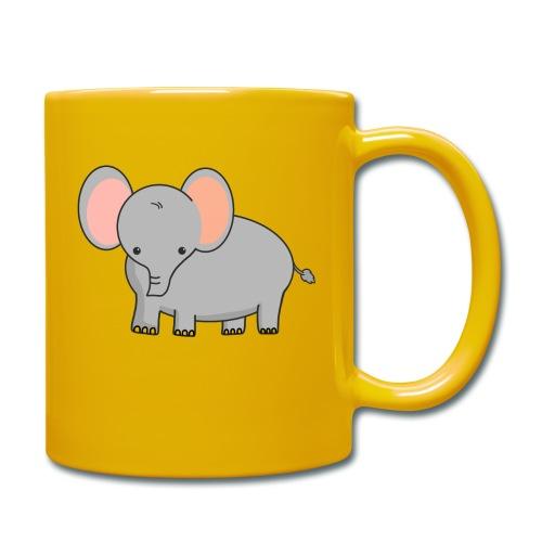 Elefant - Tasse einfarbig