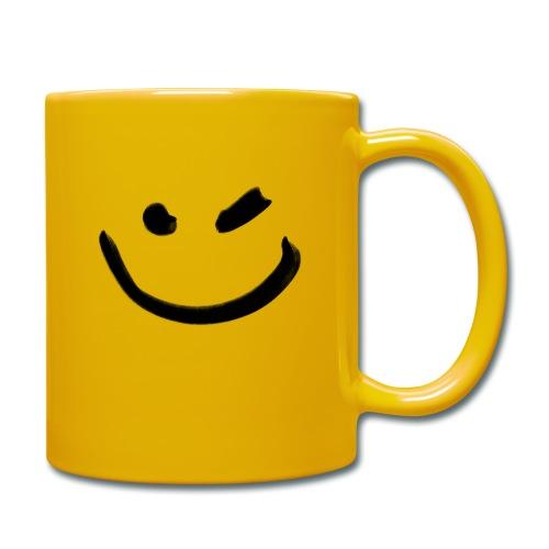 Smile Zwinkern - Tasse einfarbig