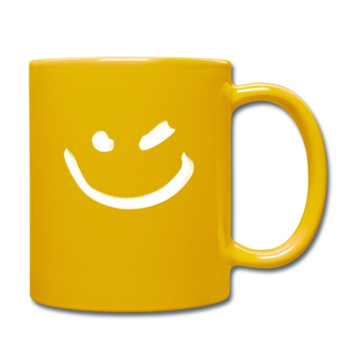 Smile Zwinkern Weiß - Tasse einfarbig