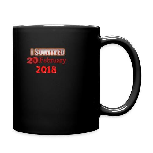 I survived february 20th text - Yksivärinen muki