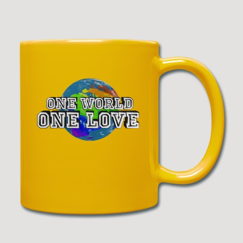 One World - One Love - Tasse einfarbig