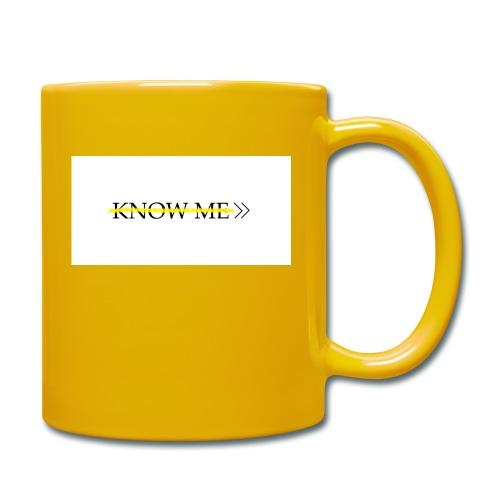 KNOW ME - Tazza monocolore