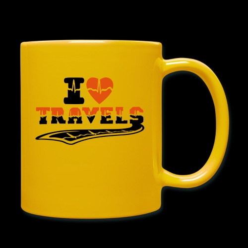 i love travels surprises 2 col - Full Colour Mug