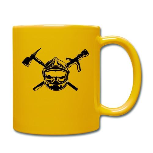 casque_pompier_hache et lance - Mug uni