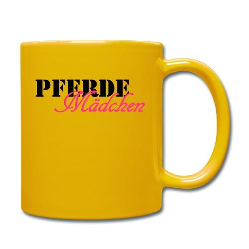 Pferdemädchen - Tasse einfarbig