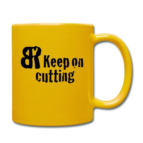 keep on cutting 1 - Tasse einfarbig