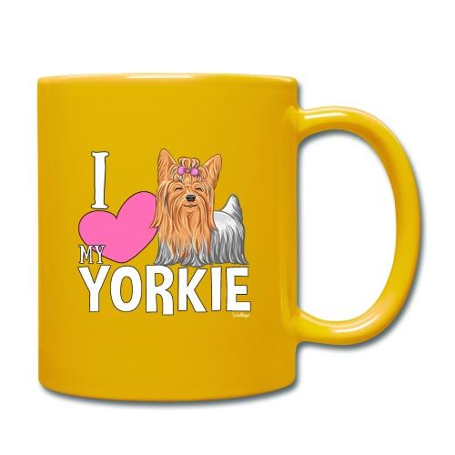 I love my Yorkie - Yksivärinen muki