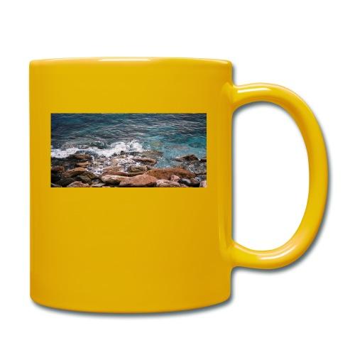 Handy Hülle mit Wellenmotiv - Tasse einfarbig