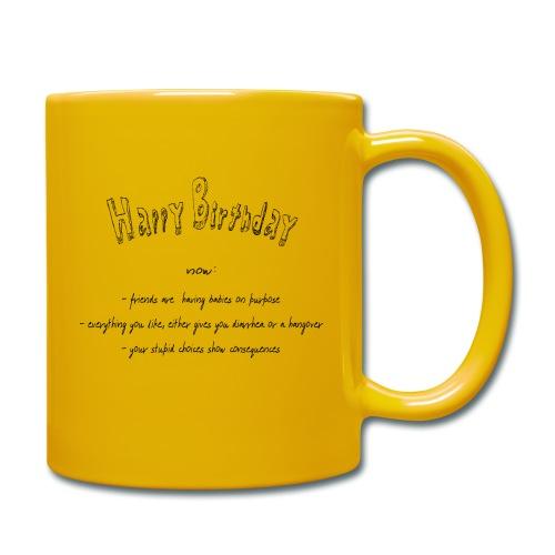 happy Birthday - Tasse einfarbig
