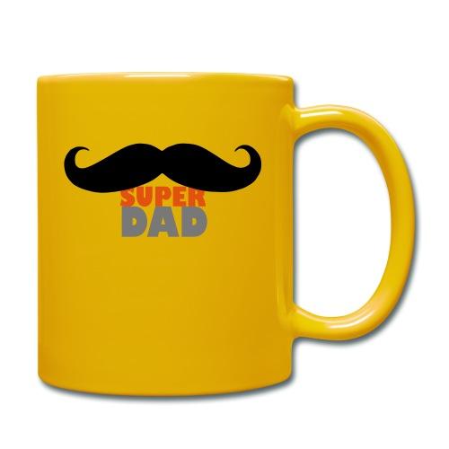 superdad moustache - Tasse einfarbig