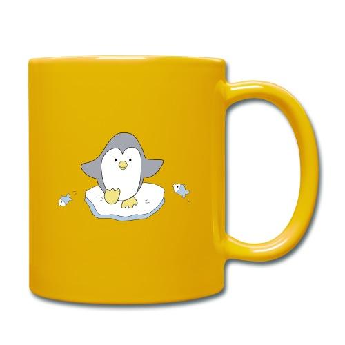 Penguin and fish - Full Colour Mug