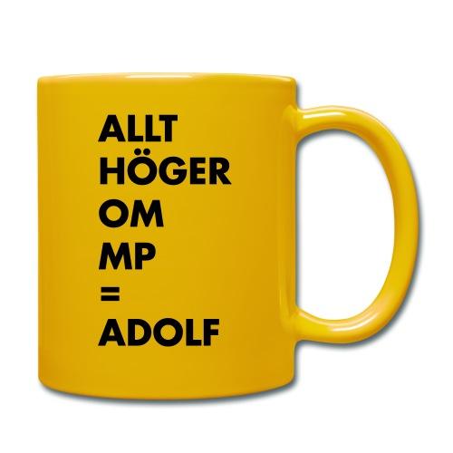 Allt höger om MP = Adolf - Enfärgad mugg
