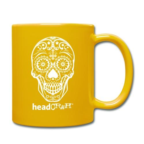 Skull & Logo white - Tasse einfarbig
