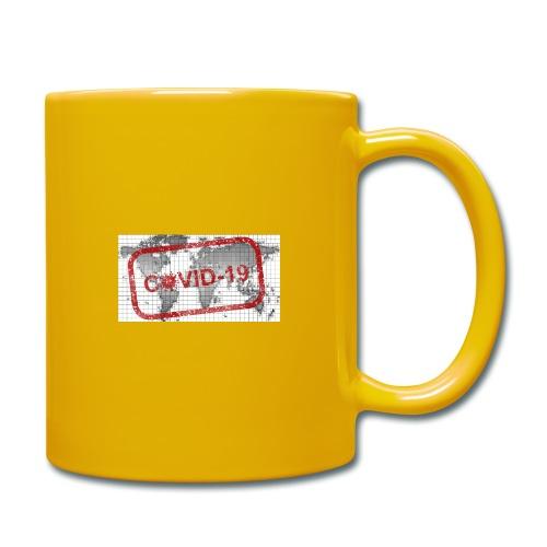 covid 19 - Tasse einfarbig