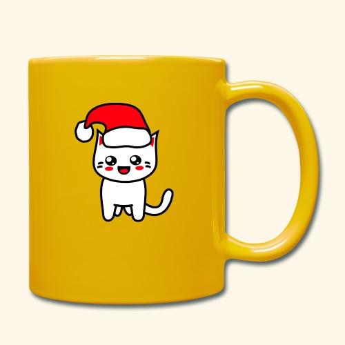 Kawaii Kitteh Christmashat - Tasse einfarbig