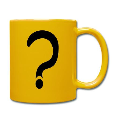 fragezeichen, wieso weshalb warum - Tasse einfarbig