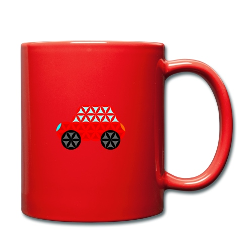 The Car Of Life - M01, Sacred Shapes, Red/R01. - Full Colour Mug