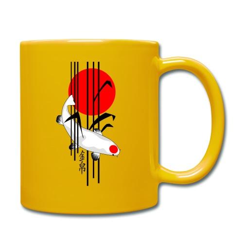Bamboo Design - Nishikigoi - Koi Fish 5 - Tasse einfarbig