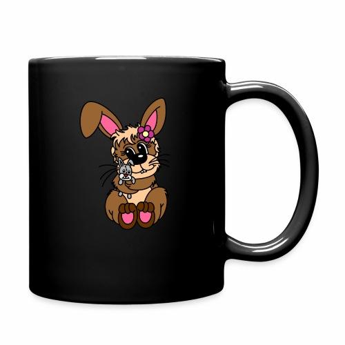 Hase kuscheln - Tasse einfarbig
